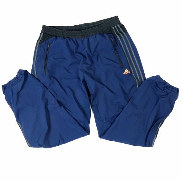 Adidas clima cool navy orange track pants